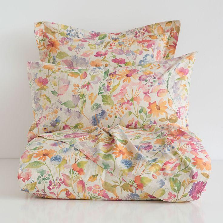 floral print bedding home decorating ideas lit linge. Black Bedroom Furniture Sets. Home Design Ideas