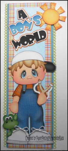 Premade A Boy's World Border Paper Piecing for Scrapbook Pages by Babs | eBay