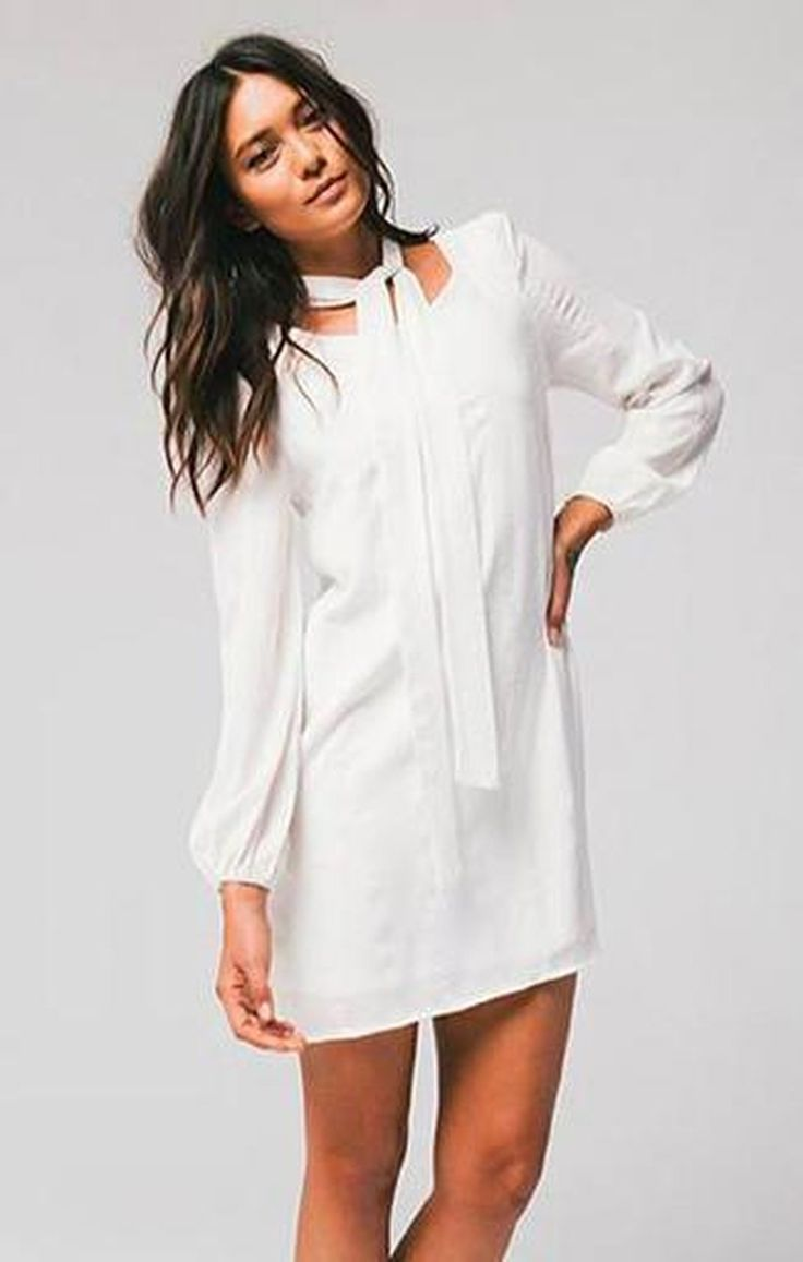 Ellie White Shift Dress by HONEY PUNCH FINAL SALE!