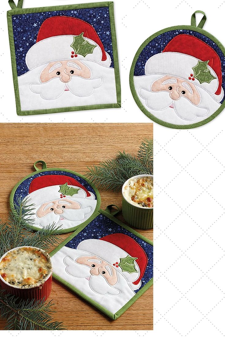 Christmas quilts are always fun, but so are Christmas pot holders! The Good St. Nick hot pads designed by Patrick Lose are a perfect replacement for those hot pads you've been holding onto for years.