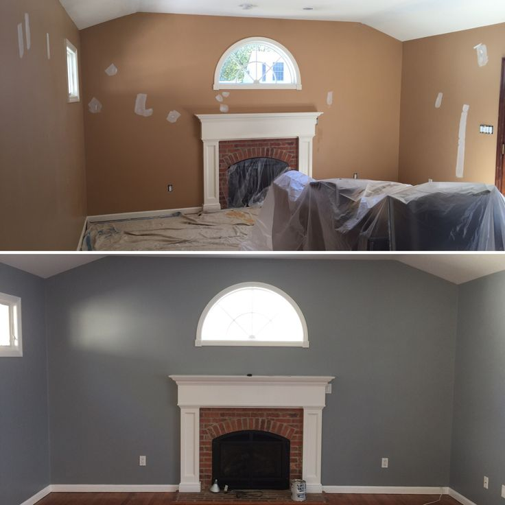 Color Benjamin Moore 1606 Cobblestone Path Before And After In 2019 Pinterest Dining