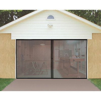 Single Garage Door Screen Keeps the Bugs Out of Your Garage