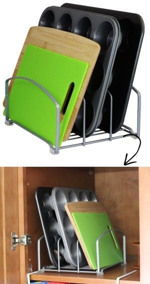 #14. Kitchen Tray and Board Rack -- 55 Genius Storage Inventions That Will Simplify Your Life