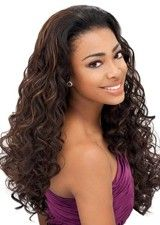 Faddish Extra Long Brown Synthetic Curly Wig