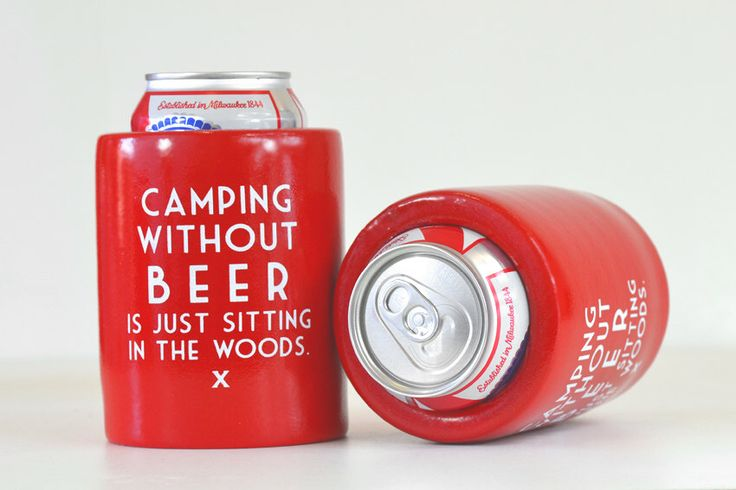 Camping without beer. Vintage Beer Koozies. Beer gift idea or Father's Day gift idea. Gifts for guys. Gifts for dad. Gifts for beer lovers by MeriwetherOfMontana on Etsy https://www.etsy.com/listing/229520384/camping-without-beer-vintage-beer