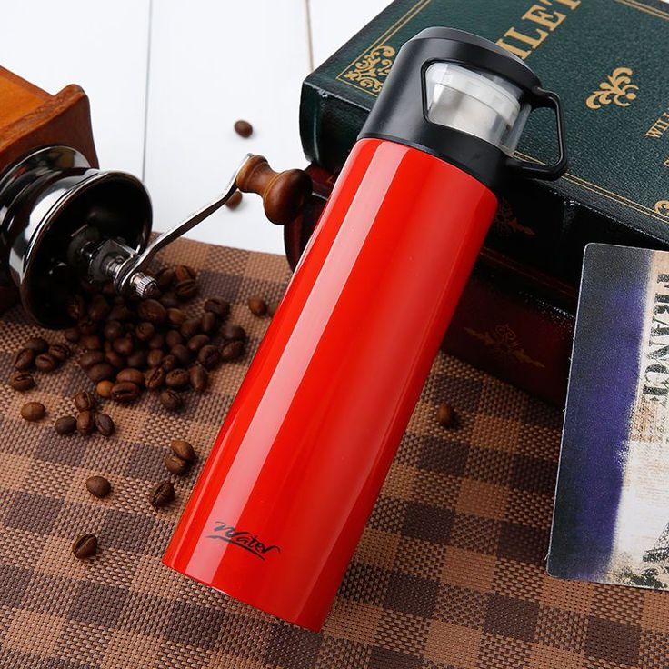 500Ml  Stainless Steel Coffee Water Thermos Portable Travel Mugs Vacuum Cup