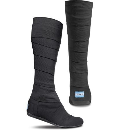 TOMS Shoes Black Vegan Wrap Boots - Women 5