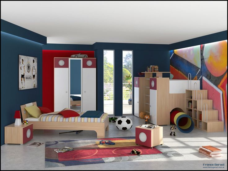 Bedroom The Excellent Design Of Toddler Boy Room Decorating Ideas With White Roof And White Glass Window On Blue Wall With Brown Bed The Cool Design Of