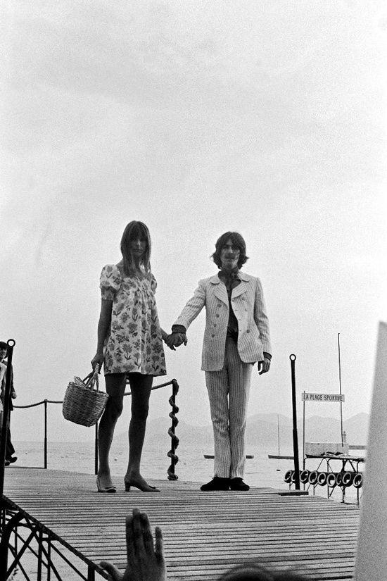 Jane Birkin and George Harrison 1968