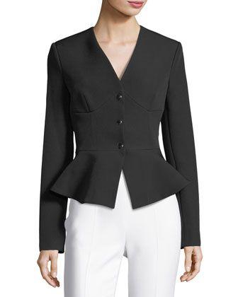 78c9dc866dda Adelisa V-Neck Corset Bodice Peplum Jacket by Cushnie Et Ochs at Neiman  Marcus.