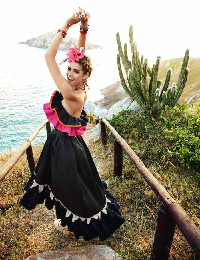 Flavia de Oliveira by Marcelo Krasilcic for Elle Italia