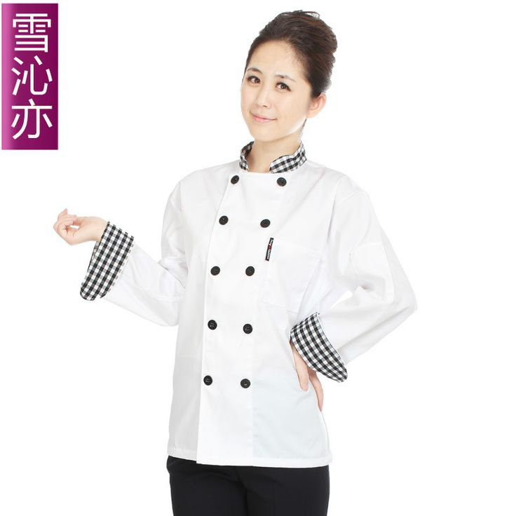 Long-sleeve cook clothes cook suit work wear autumn and winter chefs uniform(China (Mainland))