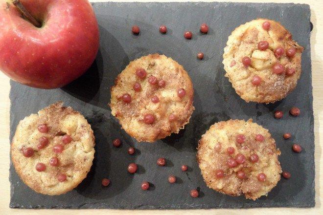 Muffins pommes-airelles-orange