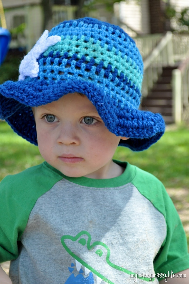 209 best crochet hats for boys images on pinterest cook crafts crochet toddler boy sun hat free crochet pattern bankloansurffo Choice Image