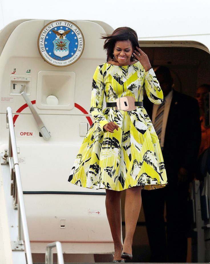 FLOTUS in Kenzo. Smart and Stylish. For Michelle Obama, Girlie Clothes That Lean In - NYTimes.com