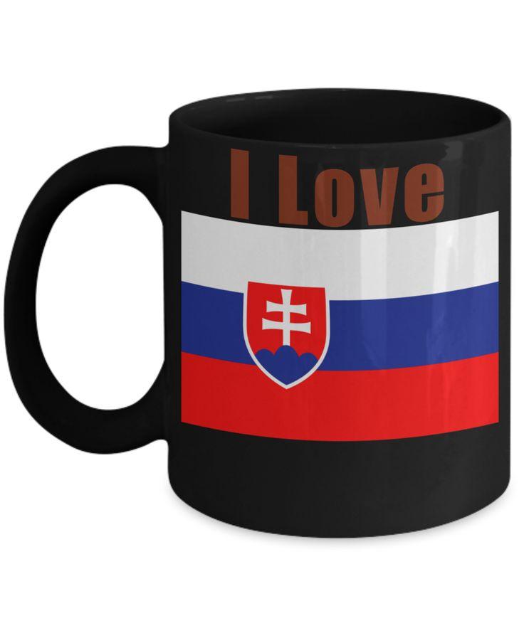 I Love Slovakia Coffee Mug With A Flag