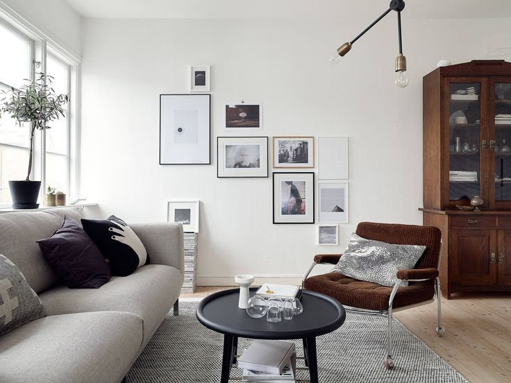 picture wall, gallery wall, scandinavian interior design