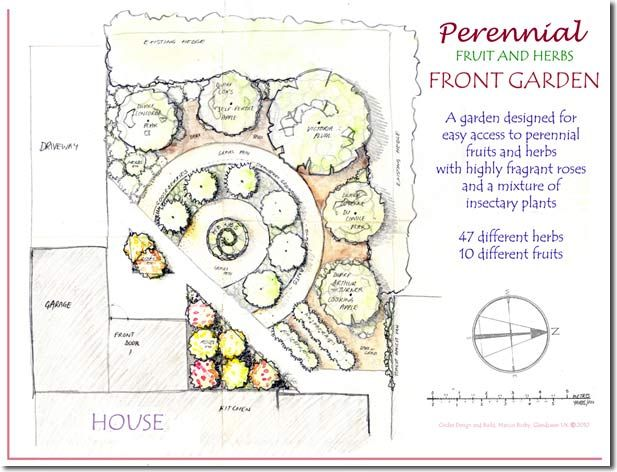 """""""Design and Build a Low Maintenance Perennial Fruit and Herb Front Garden"""""""