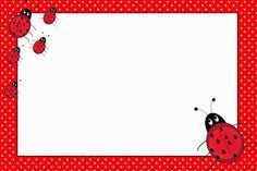 Ladybugs: Free Printable Invitations.