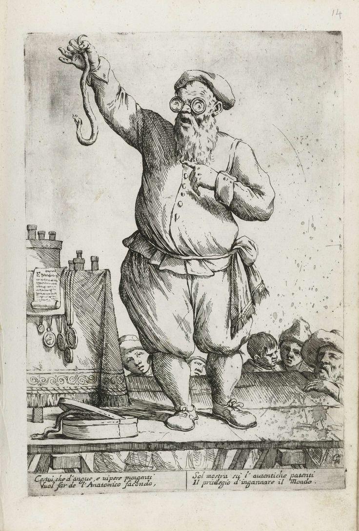 Kwakzalver, Giuseppe Maria Mitelli, 1660
