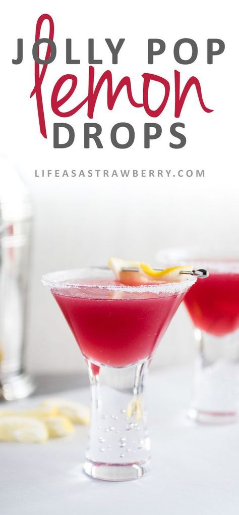 Lemon Drop Jolly Pops - These fun and easy cocktails are sure to be a hit! A…