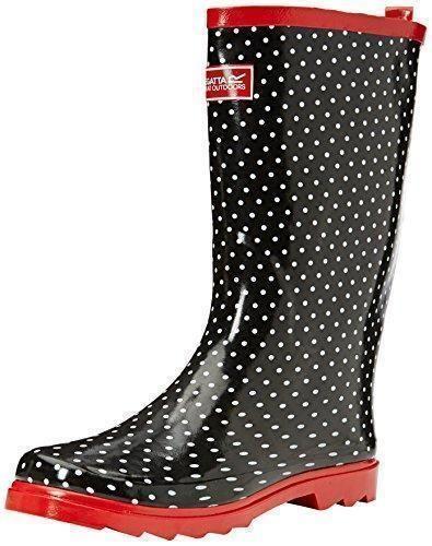Oferta: 44.77€. Comprar Ofertas de RegattaLady Fairweather - Botas de lluvia para mujer, color Negro (Black/Lollip), talla 3 UK (36 EU) barato. ¡Mira las ofertas!
