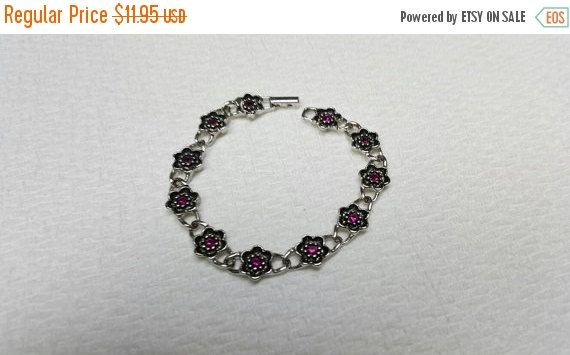 Last Minute Deals 30% Off Avon Rosamonde Bracelet Deep pink 1975 Mint Condition Victorian Mourning