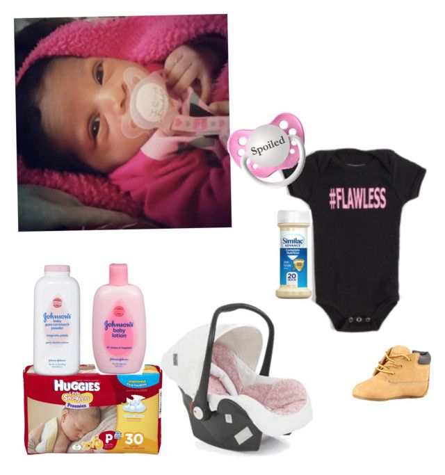 """Nyla boo is flawless-slim"" by mindless-loyalty ❤ liked on Polyvore featuring DiLascia, Huggies, Johnson's Baby and Timberland"