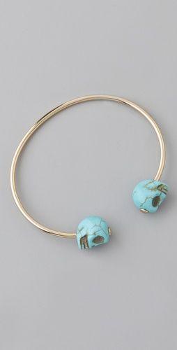 turquoise skull cuff