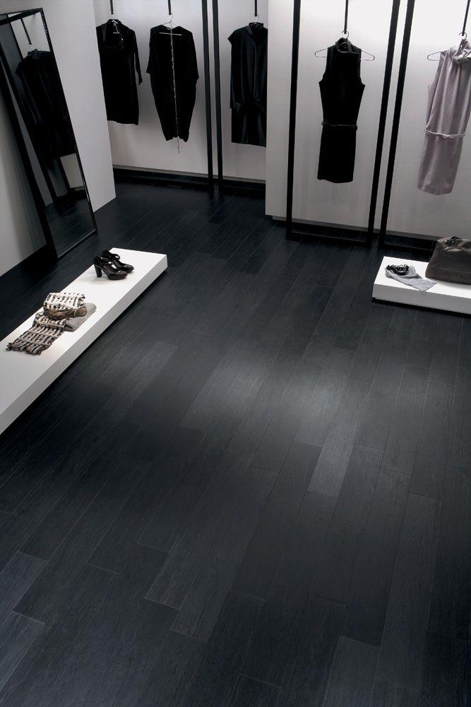 Pin By Krista De Broux On Decor A La Maison Black Wood Stain Wood Effect Tiles Black Wood Floors