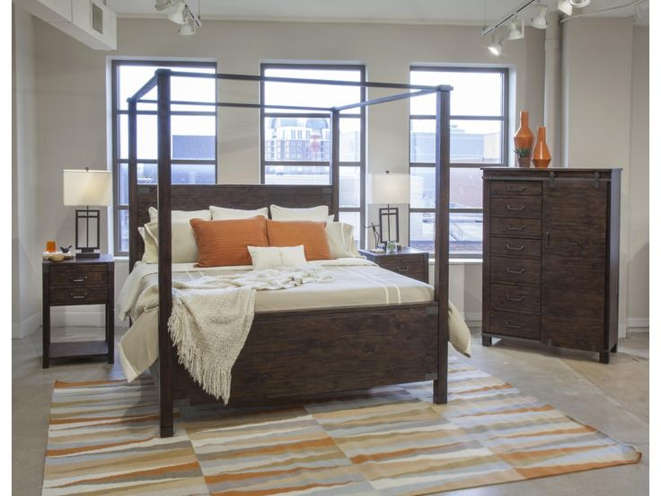 The Pine Hill Queen Bedroom Group 4 by Magnussen Home at Olinde's Furniture in the Baton Rouge and Lafayette, Louisiana area.