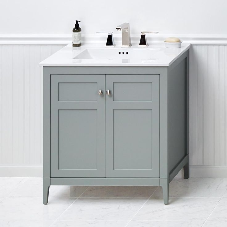 Single Bathroom Vanity   The Transitional Style Ronbow Briella 24 In.  Single Bathroom Vanity Features A Simple, Charming Design In Neutral Colors  That Make.