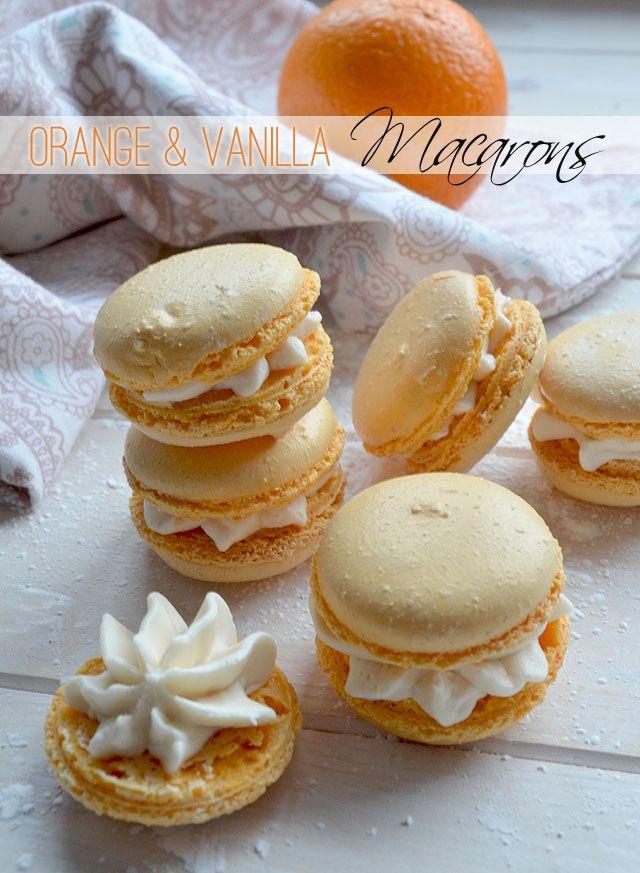 Recipe Orange & Vanilla Macarons