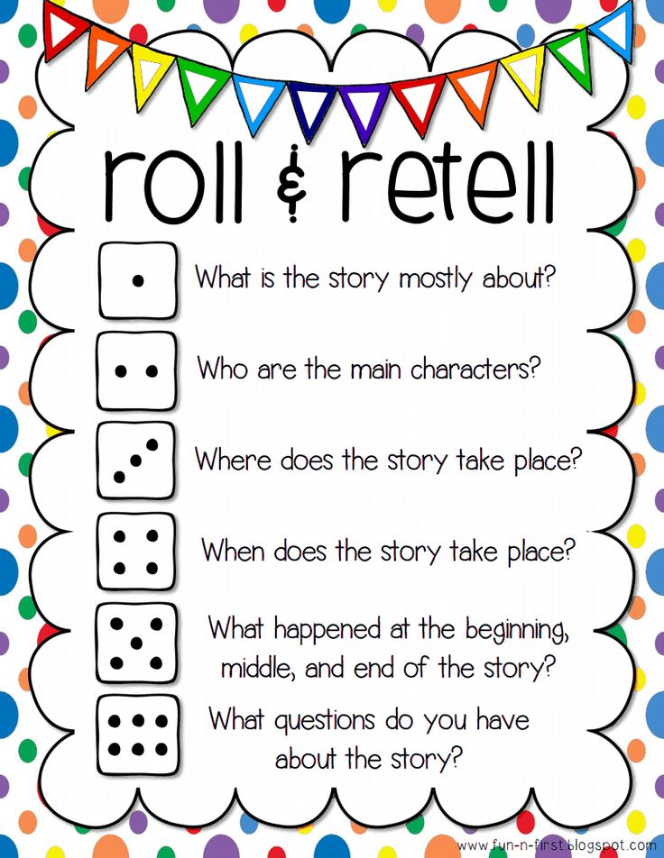 roll and retell: guided reading response chart
