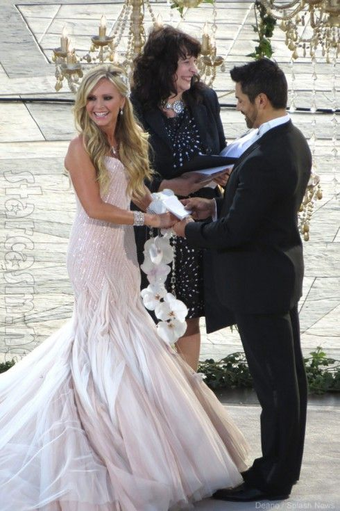 Eddie Judge and Tamra Barney wedding photo at the altar