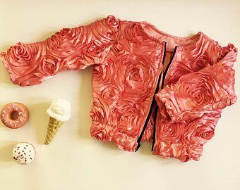 Girls Satin Jacket, Baby satin jacket, Girls zip up jacket, Toddler Jacket, Toddler Bomber Jacket, Baby Bomber Jacket, Pink satin jacket
