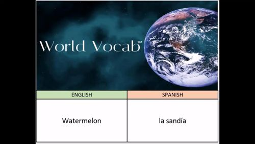 Watermelon - la sandía Spanish Vocabulary Builder Word Of The Day #346 ! Full audio practice at World Vocab™! https://video.buffer.com/v/581944c82ee4c1947a95250a