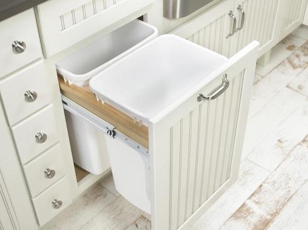 Basurero oculto en cocina u as pinterest for Kitchen cabinets jaipur