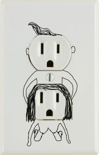 Wall socket fun ;o) Maybe after the kids move out.