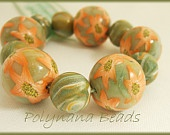 Polymer clay beads - Starflower Garden