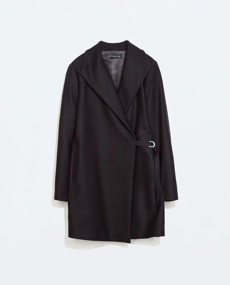 Image 7 of COAT WITH WRAPAROUND COLLAR from Zara