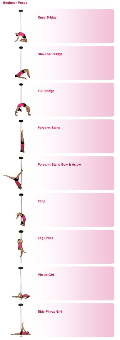 Pole Dance Training - beginner poses