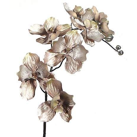 Premium Lustre Artificial Orchid Flower Spray   Dunelm
