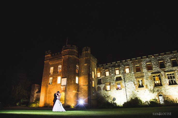 Farnham Castle military wedding. Night time photography www.samandlouise.co.uk