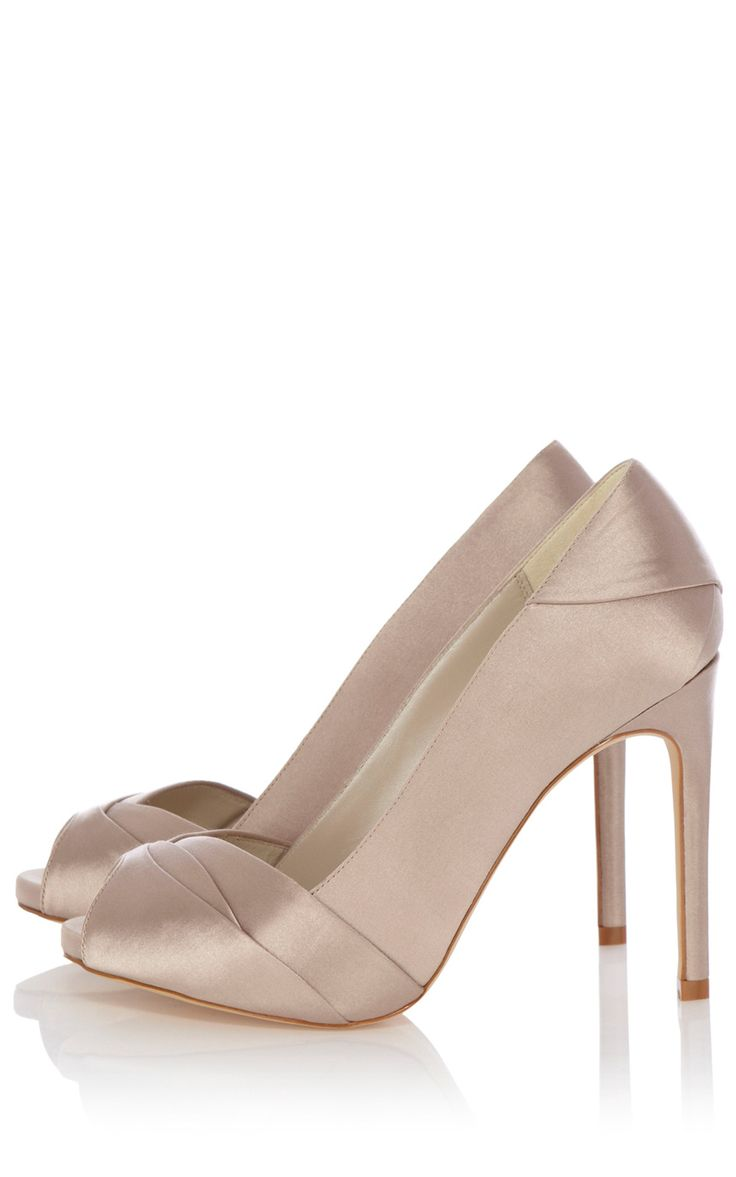 Pleated satin peep toe shoe   Luxury Women's salenl   Karen Millen