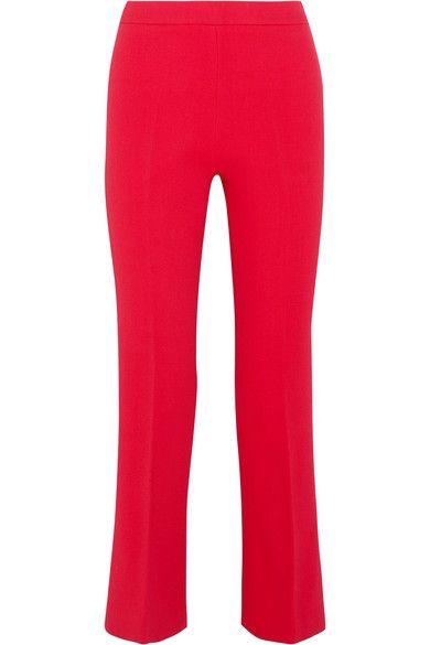 Giambattista Valli - Cropped Stretch-crepe Flared Pants - IT48