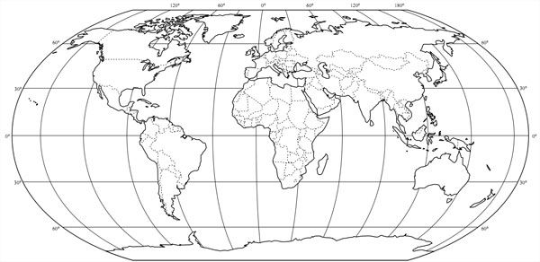 Image result for oval world map vector | World map outline ...
