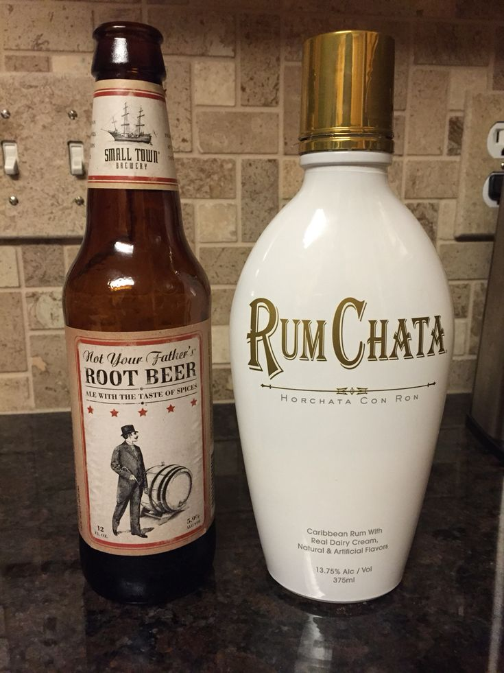 Tastes just like a root beer float!  Rum Chata and Not Your Father's Root Beer...yum.