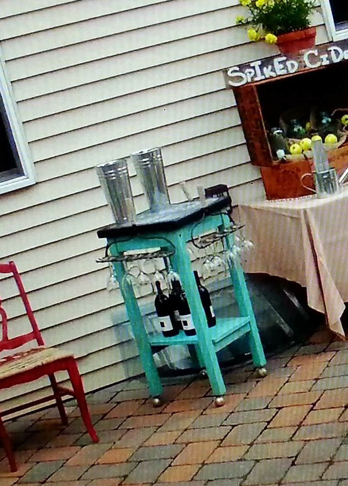 A Kitchen Cart Gets Repurposed Into A Unique Rolling Wine Bar
