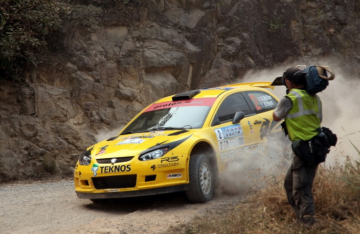 China Rally and APRC TV cameraman Tony Wilson captures the action.